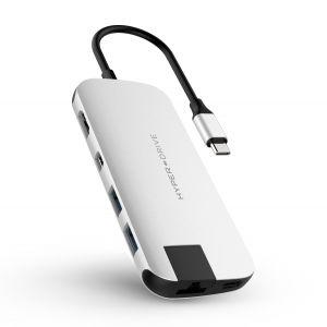 HyperDrive SLIM USB-C Hub - Silver