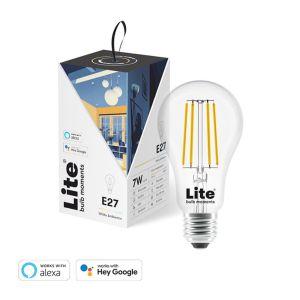 Lite bulb moments smart LED bulb, white light, E27, clear glass