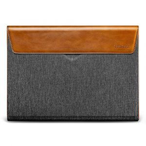 tomtoc Premium Sleeve – 16'' MacBook Pro 2019, Gray & Leather