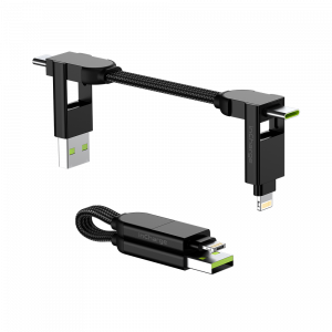 Rolling Square inCharge X – charging and data cable 6 in 1, black