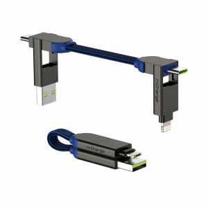 Rolling Square inCharge X – charging and data cable 6 in 1, Sapphire blue