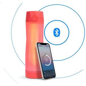 HidrateSpark 3 – smart bottle with Bluetooth tracker, 592 ml, orange