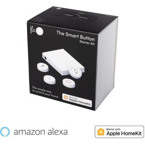 Flic 2 Starter Kit – 4x Smart Bluetooth Button, Hub LR, Power Outlet, Stickers
