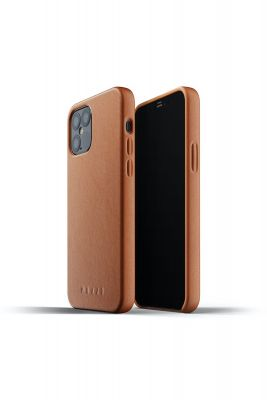 MUJJO Full Leather Case for iPhone 12 / 12 Pro, Tan