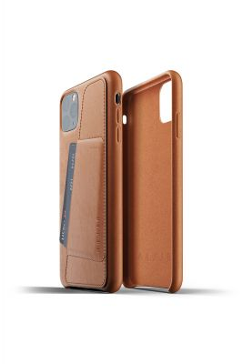 MUJJO Full Leather Wallet Case for iPhone 11 Pro Max – Tan