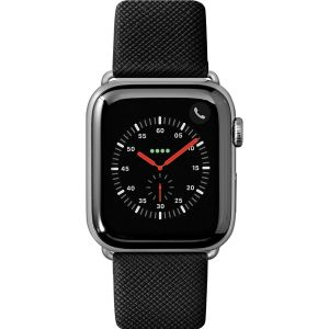 LAUT Prestige – Leather Watch Strap for Apple Watch 42/44 mm, Black