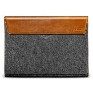tomtoc Premium Sleeve – 16'' MacBook Pro 2019, Gray & Leather