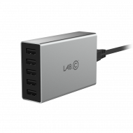 Lab.C X5 5Port USB Wall Charger - Grey