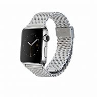 Monowear Silver Mesh Band for Apple Watch - Silver Polished 42 mm