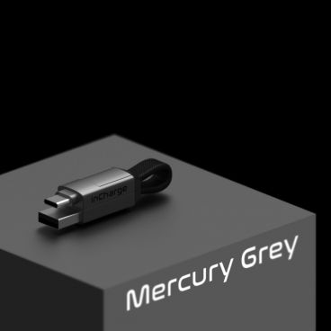 inCharge 6 – Charging and Data Cable 6-in-1, Mercury Gray